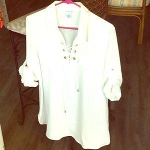 Off white Calvin Klein blouse.